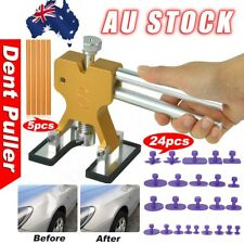Car PDR Paintless Dent Puller Lifter Hammer Hail Remove Glue Gun Repair Kit OZ