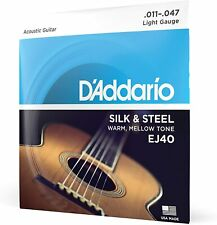D'Addario EJ40 Silk and Steel Folk Acoustic Guitar Strings - Light Gauge 11-47
