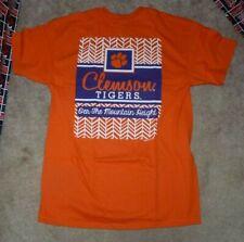 NEW NCAA Clemson Tigers T Shirt Men M Medium Orange NEW NWT