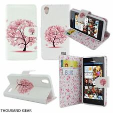 Pink Premium PU Leather Wallet Built in Stand Case Cover Skin Huawei Pronto