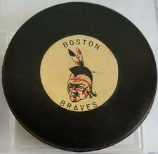 RARE BOSTON BRAVES AHL ART ROSS TYER CONVERSE OFFICIAL GAME PUCK CCM MADE IN USA