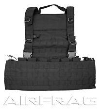Taigear 25047B MOLLE Web Tactical Vest Black w 12 straps 9 pockets & Drag Handle