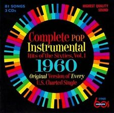 New 3CD Set Complete Pop Instrumental Hits Of 1960 16 CD Debuts 81 Total Tracks