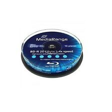 50 MEDIARANGE Bluray blu ray vergini BD-R 25GB 1-4X cake 10 BLU RAY MR495
