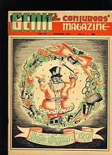 Gerrie Baker Feature Genii Magicians Magazine Dec1957 - contents in post