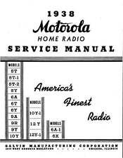 Motorola Schematics, Farm, Radio, Auto, Service Manuals 1937 - 1942 * CDROM