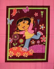 Dora Flowers Butterfly Quilt Panel by Springs Creative SMALL SPOT