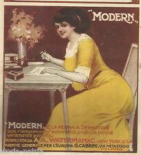 SCRITTURA_PENNE STILOGRAFICHE_WATERMAN_MODERN_CACCIA_CACCIATORI_LEON BEAUX_1910