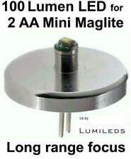 Mini MAGLITE LED UPGRADE 2 AA Cell Flashlight Bulb 1 watt Conversion