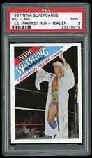 1987 NWA Super Cards Test Market Nature Boy Ric Flair Header Card PSA 9 Mint