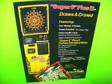 Arachnid ENGLISH MARK DARTS Super 6 Plus II Original NOS Arcade Game Promo Flyer
