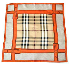 BURBERRY LUXUS SCHAL TUCH SCARF Carré платок FOULARD 100% SILK 67x67 UVP 279 €