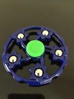 blue wheel metal beads finger hand spinner fidget spinning toy steel bearing