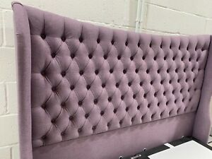 Hypnos ELIZABETH WINGED Headboard for SUPER King 6ft RRP £2100 BROOKLYN MAUVE