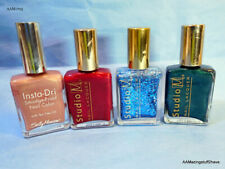 Instant Dry Sally Hansen Studio M Lot of 5 Nail Red Blue Green Polish Pre Owned