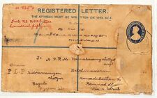 PP214 1929 India Registered Letter Samwells-Covers