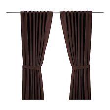 "NEW IKEA RITVA 1 Pair, 2 Panels Window Curtains - Medium Brown - 57"" x 98"""