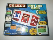 Coleco Video TV Game System Plug & Play Sports Basketball Football 6 Games