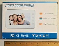 LCD Video Door Phone Doorbell Intercom System Touch Button (Monitor only)