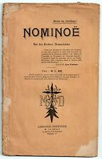 BERTHOU NOMINOE ROI DES BRETONS ARMORICAINS 1904 HISTOIRE MEDIEVALE POEME RARE