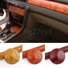 Glossy Wood Car Grain Sticker Textured Vinyl Self-adhesive Wrap Decal 150x23cm