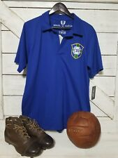 BRAZIL 1958 Pele #10 Retro  WORLD CUP FINAL Jersey Size L