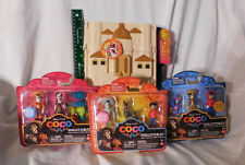"New 10"" Coco Hacienda Playset & 3 3-Packs Skullectables Figures Disney Mattel tr"