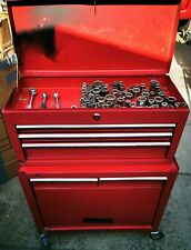 Halfords Tool Chest Top Box & Roll Cab with Sockets & Ratchets. All drawers work