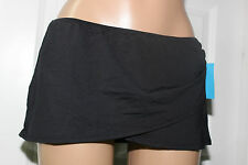 NEW Anne Cole 16MB405 Black Sarong Skirted Swimwear Bikini Bottom XS XSmall