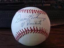 Dennis Martinez Autograph / Signed Baseball Baltimore Orioles El Presidnte (b1)