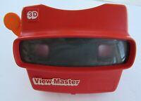 Viewmaster 3D Red Viewer Toy Orange Handle Vintage 1980s Works Great No Reels