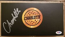 CHARLOTTE FLAIR WWE DIVA SIDE PLATES BOX SET SIGNED AUTOGRAPH PSA/DNA COA