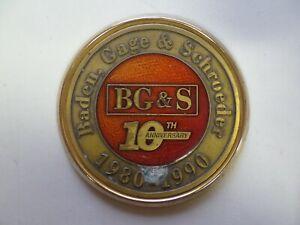 Baden, Gage & Schroeder Fort Wayne IN Accounting 10th Anniversary Emblem Plaque