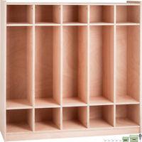 Preschool Coat Locker Storage Cabinet Cubby Locker 5-Section Toddlers and Kids