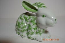Adorable Green White Bunny Rabbit Bank From Andrea by Sadek