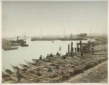 c.1880's PHOTO - JAPAN KIMBEI - VIEW OF ENGLISH HATOBA AT YOKOHAMA