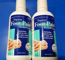 2X Lot of 2 (8 oz +8 oz)  TOPRICIN FOOT PAIN  Relief  Cream