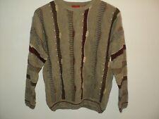 NEW J. Simon Men's Sweater M Size Medium Crewneck Taupe Tan Acrylic/Cotton