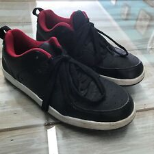 Mens Sz 7 Andi black red lace up athletic shoes