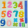 Colorful Magnetic Numbers Wooden Fridge Magnets Kids Educational toys Gift G7I7