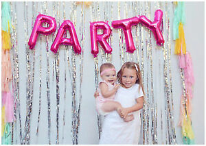Party Foil Balloon Kit Word Script Air Decorations Happy Birthday Wedding partie