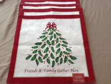 """LENOX HOLIDAY IVY PLACEMATS Six 15""""X15""""  FRIENDS & FAMILY GATHER HERE"""