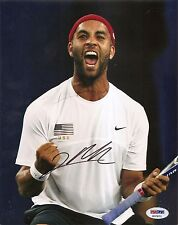 James Blake Tennis Signed Auto 8x10 PHOTO PSA/DNA COA