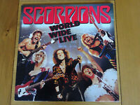 SCORPIONS WORLD WIDE LIVE - VINYL DOUBLE LP 1985 LP RECORD