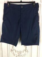 Lee Mens 34 Board Shorts Blue Flat Front Cooltex Sport Mid Length Pockets