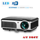 Full HD LED Home Theater Projector Support 1080P Movie Game Party HDMI USB VGA