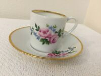 Vintage Gold-trimmed Philippe Deshoulieres Foecy France Demitasse Cup/saucer.