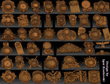 45 pieces Clock Collection stl models for CNC Router mill -  RLF ARTCAM