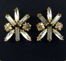 "NEW J. CREW FACETED GLASS CRYSTAL CLUSTER EARRINGS 1""L"