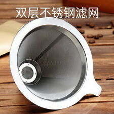 Extra Fine Mesh Double-layer 8/18 Stainless Steel Loose Tea Coffee Strainer